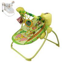 MONSIEUR BEBE - Balancelle bébé musicale et programmable + Barre à jouets