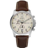 Guess - Montre Homme 3 compteurs calendrier chronograph. Bracelet cuir. Garantie 2 ans