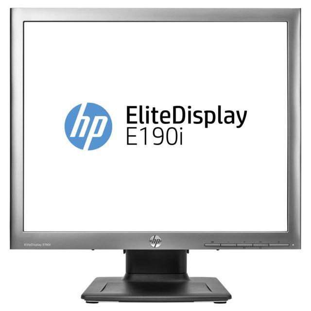 Hp - Moniteur 19' Led - EliteDisplay E190i 1280 x 1024 pixels - 8 ms - Format 4/3 5/4 Dalle Ips - Hub Usb - Argent/Noir