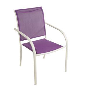 carrefour fauteuil de jardin textil ne violet pas cher achat vente fauteuil de jardin. Black Bedroom Furniture Sets. Home Design Ideas