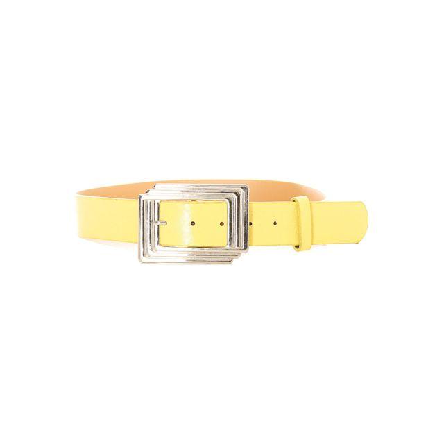 Grossiste-en-ligne - Ceinture femme en jaune avec boucle rectangulaire.  Sg0218 9d250288530