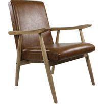 plus récent 87bb7 7102b Fauteuil vintage aspect cuir Alfred
