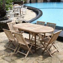 Ensembles tables et chaises achat ensembles tables et - Salon de jardin en bois rue du commerce ...