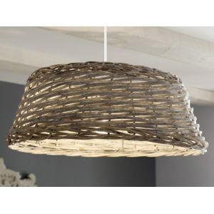 mathias suspension tambour saule tress patin gris hauteur 24cm diam tre 57cm gordes pas. Black Bedroom Furniture Sets. Home Design Ideas