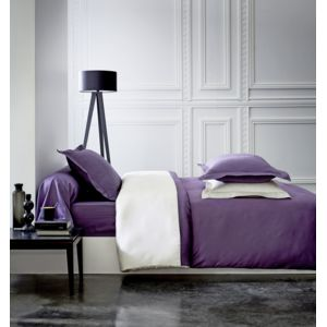 tex home housse de couette en satin violet pas cher achat vente housses de couette. Black Bedroom Furniture Sets. Home Design Ideas
