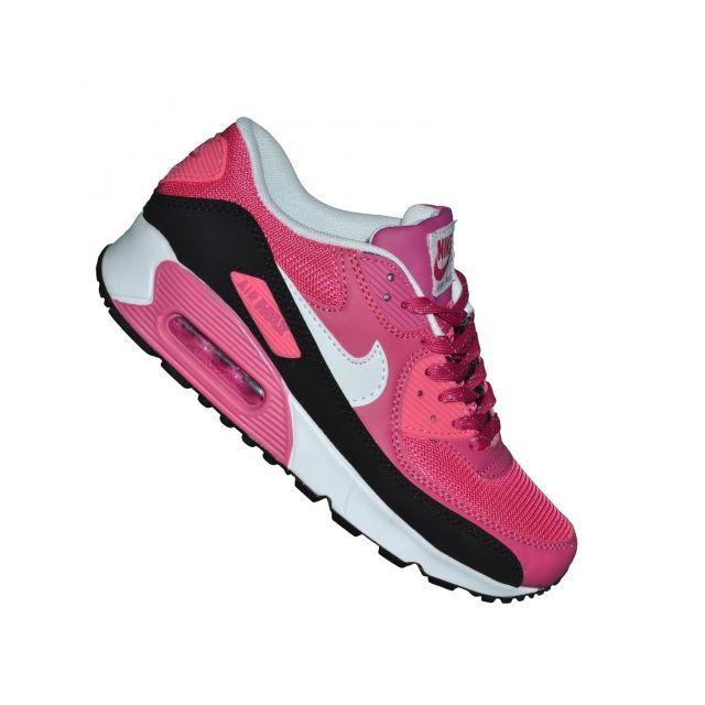 outlet store 759c4 d464d Nike - Basket - Femme Junior - Air Max 90 02 - Rose Blanc Noir - pas cher  Achat  Vente Baskets femme - RueDuCommerce