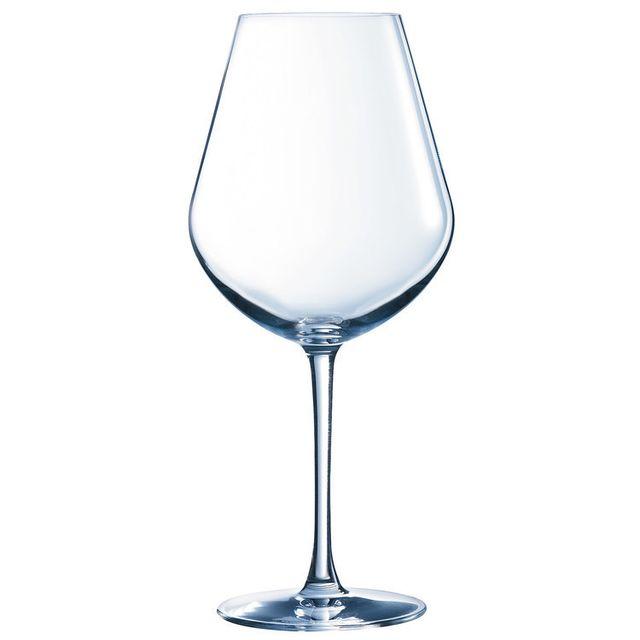 Chef & Sommelier Verre à vin rouge en kwarx Fruity transparent 43cl - Coffret de 6 Arom Up
