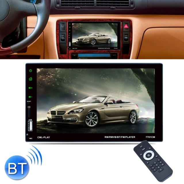 wewoo autoradio 7 pouces 1080 p hd cran tactile double din r cepteur de voiture st r o mp5. Black Bedroom Furniture Sets. Home Design Ideas