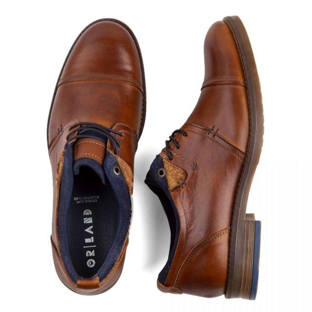 115c7daa67d8b8 Orlando - Chaussures de ville cuir marron Homme - pas cher Achat / Vente  Chaussures de ville homme - RueDuCommerce