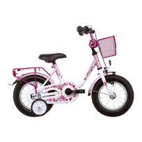 Vermont - Vélo Enfant - Girly - Vélo enfant 12 pouces - rose/blanc
