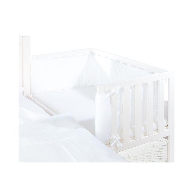 Comforium Tour de lit pour cododo en tissu coloris blanc