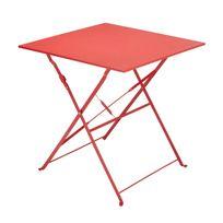 CARREFOUR - Table Bistrot carrée pliante - Rouge