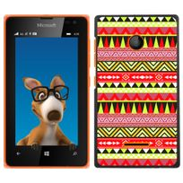 Kabiloo - Coque pour Nokia Lumia 435 impression Motif aztèque jaune et rouge