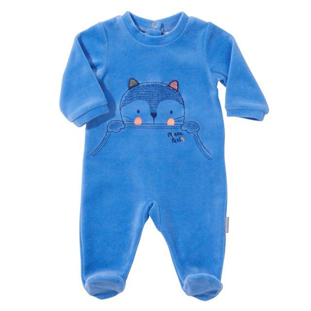 ABSORBA - Pyjama bébé MIAOU PARTY en coton bleu - 6