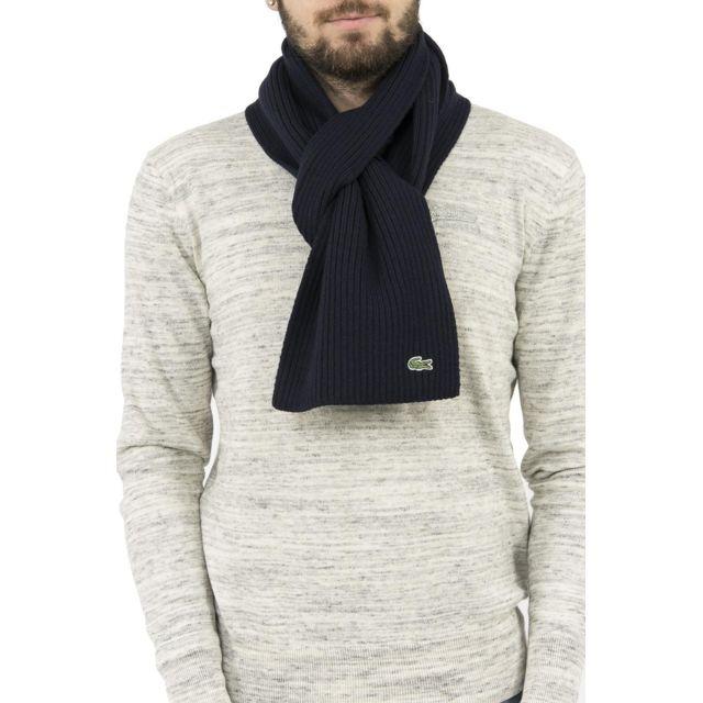 496d507f7a Lacoste - Echarpe re4212 bleu - pas cher Achat / Vente Echarpes, foulards -  RueDuCommerce