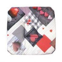 Marque Generique - Galette de chaise Photoprint Valentine Rouge