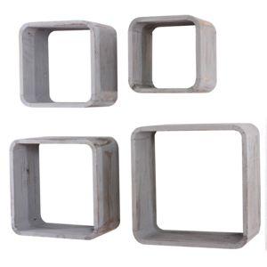 Mendler - 4x étagère murale ou à poser étagère cube bibliothèque ...