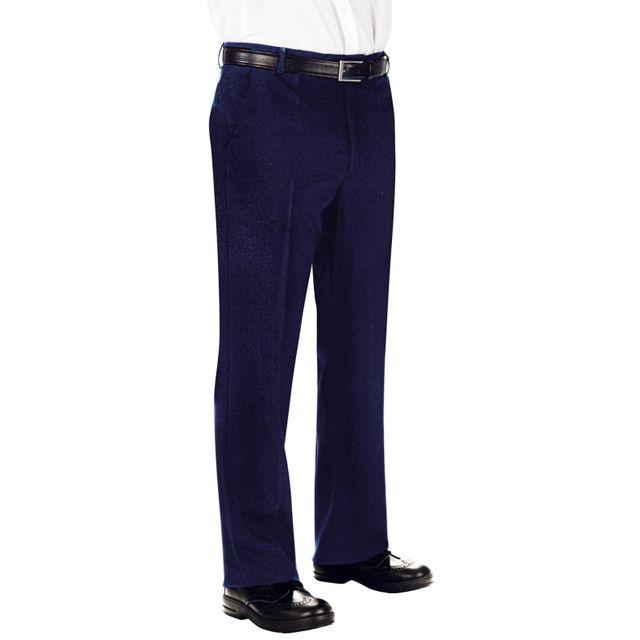 Isacco Pantalon Homme 100% Laine Bleu