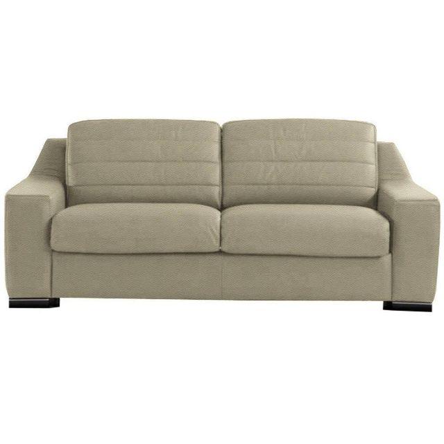 inside 75 canap convertible ouverture rapido giacinto cuir co cru couchage 140 200cm. Black Bedroom Furniture Sets. Home Design Ideas
