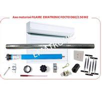 EMATRONIC - Axe motorisé programmable filaire volet 45kg long 3m Ø60mm