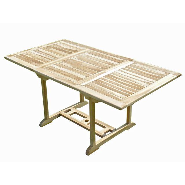 C&L Jardin Table de jardin en teck Serang 6/8 places
