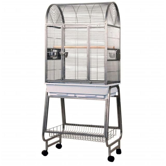 Strong Cage pour perroquets Villa Nora Gris 67,7 x 51,5 x 154 cm