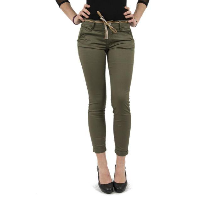 Salsa Jeans Pantalons salsa 119174 colette vert