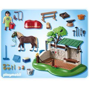 Playmobil - 5225 - Jeu De Construction - Box De Soins Pour Chevaux