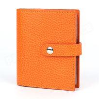 Volumica - Porte 24 cartes cuir Orange Beaubourg