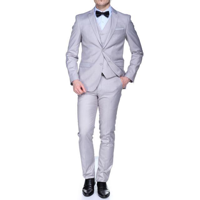 jean louis scherrer sch083 rome uni 3p light grey gris pas cher achat vente costumes. Black Bedroom Furniture Sets. Home Design Ideas