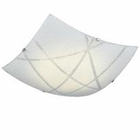 Kosilum - Lustre Plafonnier carré à Led et verre décoratif - Sunset