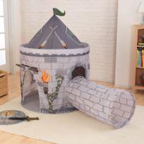 Kidkraft - Tente château et son tunnel -– Gris