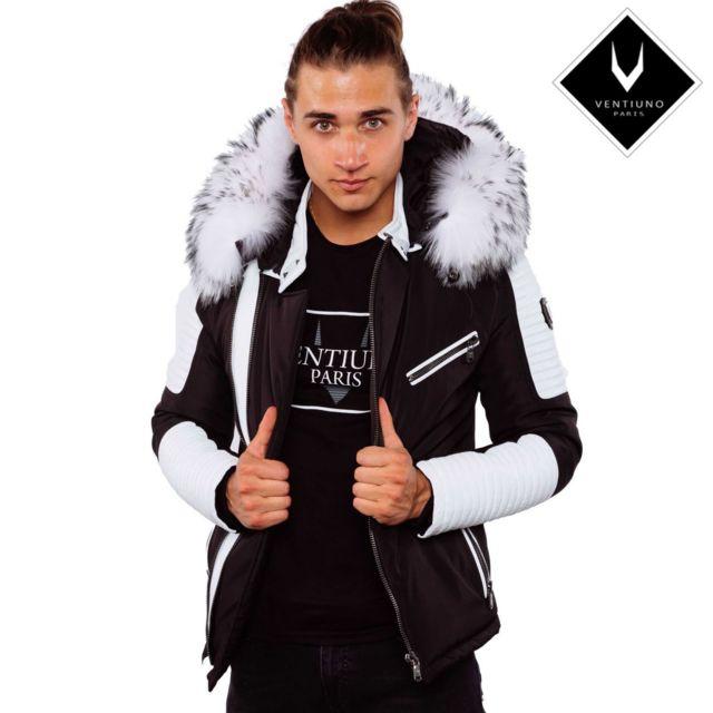 strong Ventiuno  strong  ekos blanche veste doudoune bi matière fourrure  véritable. Nouveau 34e736a1e5d