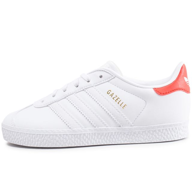 Adidas originals - Gazelle Enfant Blanche Et Orange
