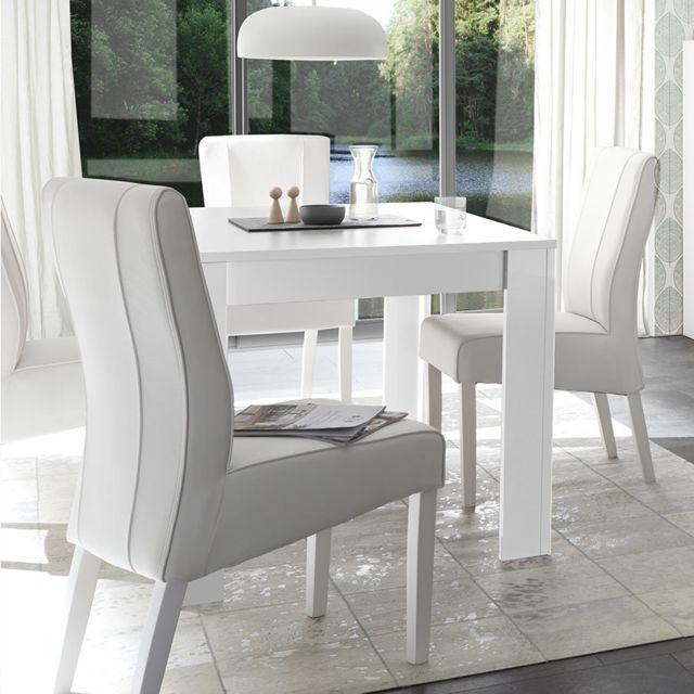 Kasalinea Table à manger 180 cm design blanche Agathe