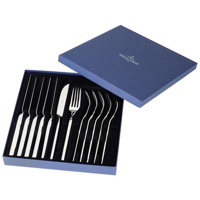 Villeroy & Boch Set de 6 couteaux à steak + 6 fourchettes à steak