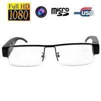 Yonis - Lunettes de vue mini caméra espion Full Hd 1080p Micro Sd Usb