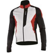 Briko - Speed Jacket Blanche Noire Et Rouge Veste thermique vélo