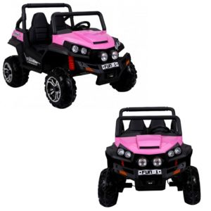 voiture electrique grand 4x4 buggy voiture lectrique enfant 24 volts 2 places pour fille rose. Black Bedroom Furniture Sets. Home Design Ideas