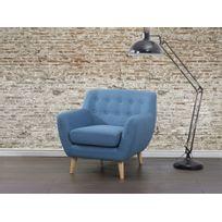 comptoir de famille fauteuil en tissu coton chambray pas cher achat vente fauteuils. Black Bedroom Furniture Sets. Home Design Ideas
