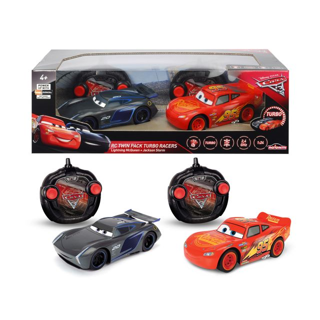 disney cars 3 voitures radiocommand es flash mcqueen et jackson storm 213087004 pas cher. Black Bedroom Furniture Sets. Home Design Ideas