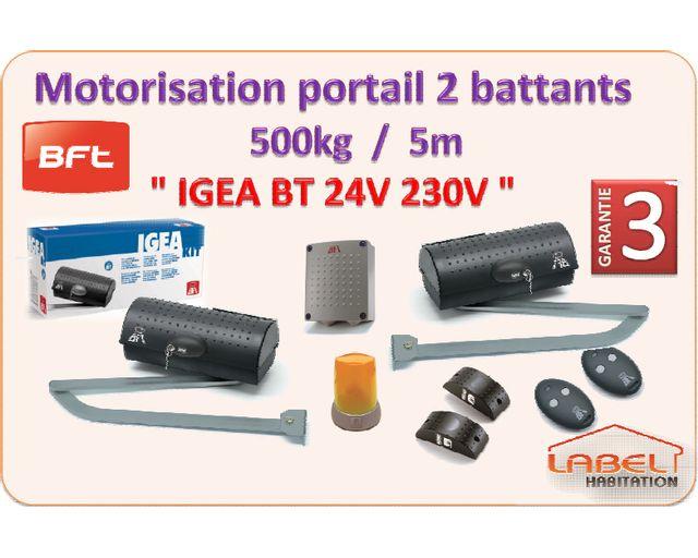 BFT - Motorisation portail 2 battants - Igea BT 24V