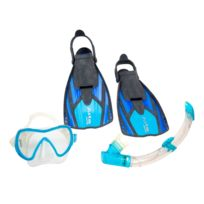 Aqualung - Set de plongée Set travel palme+mas+tuba Bleu 70079