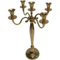Lmladeco - Chandeliers 5-bras en alu doré candélabres 42 cm