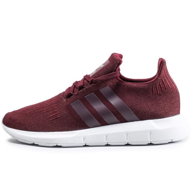 Adidas originals Swift Run Glitter Bordeaux Rouge pas