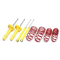 Tuning Art - Kit suspension pour Peugeot 206 / 206SW / 206CC / 206RC type Rfr / Rhy / Rfn / Rfk / 9HY / 9HZ de 1998 a 2006, rabaissement avant : 30mm, pour motorisation 1.6l 16V - 2.0l incl. Diesel de 90 a 180cv