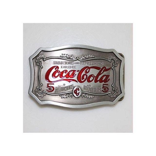 Universel - Boucle de ceinture coca cola blason rouge alu homme femme 908043286c7