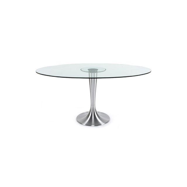 Table à diner design 106x160x76cm Ovali