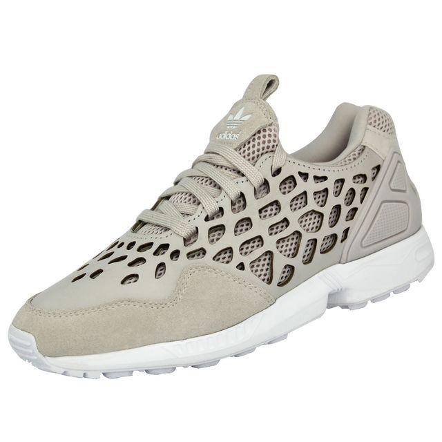 more photos 27a2a 2fefb Adidas - Originals ZX FLUX LACE Chaussures Mode Sneakers Femme Beige - pas  cher Achat   Vente Baskets femme - RueDuCommerce