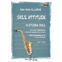Lemoine - Partitions Jazz&blues Allerme Jean-marc - Jazz Attitude Vol. 2 - Saxophone Alto + Cd Saxophone